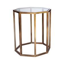 Brass Side Table Octagon Small Side Table Oka