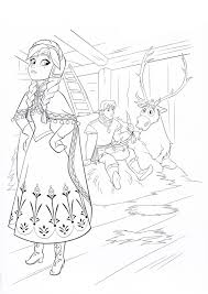 anna coloring pages kristoff sven coloringstar