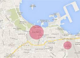 Doha Map Doha Im Neuen Reich Der Scheichs Reiseblog Bravebird