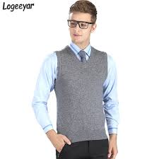 sweater vests mens 2017 fashion brand autumn knitted sweater vest pullove