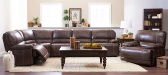 Klaussner Coffee Table by Klaussner International Foster Six Piece Power Reclining Sectional