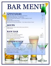drink menu template free bar menu template microsoft word templates