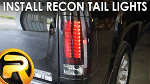 2011 chevy silverado smoked tail lights how to install recon led tail lights youtube