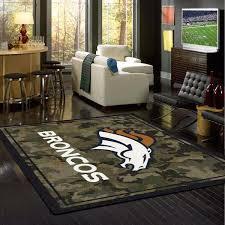 Denver Area Rugs Denver Broncos Nfl Team Camo Rug Fan Rugs