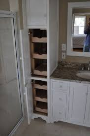 Laundry Hamper Built In Cabinet Bathroom Linen Tower Foter