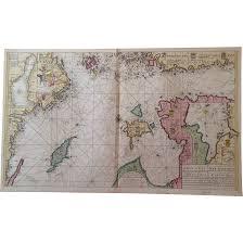 Baltic Sea Map Rare Original Map Sea Chart Of Northern Baltic Sea Keulen Circa