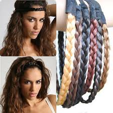 plait headband plaited synthetic hair elastic plait headband hairband band