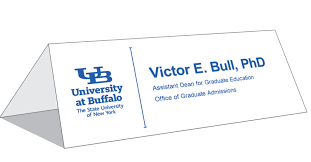 standard table tent card size table tent cards identity and brand university at buffalo standard