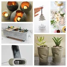 30 diy decorative ideas with cement to freshen up your home