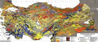Geological Map Geology Map Of Turkey Mavi Boncuk