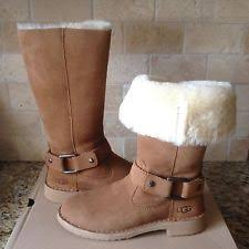 womens shearling boots size 11 ugg australia zip suede winter boots for ebay