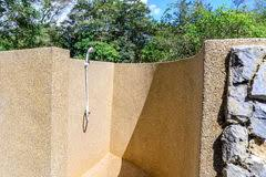 Outdoor Shower Room - shower room with nature stock photo image 42268335