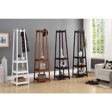 vassen 3 tier storage shelf standing coat rack free shipping