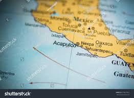 Mexico On Map Map View Acapulco Mexico On Geographical Stock Photo 376027063