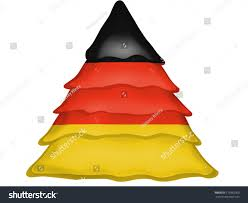 The Germany Flag German Flag Painted On Christmas Xmas Stock Illustration 119965960