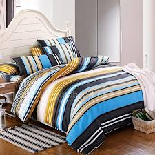 Blue Striped Comforter Set Blue And White Striped Comforter Sets Home Design Ideas