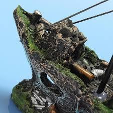 ship wreck fish tank decoration