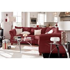 Red Furniture Living Room Adrian Red 2 Piece Sectional Red American Signature Furniture