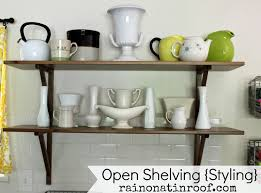 open shelves best 2 elegant open kitchen shelves inspiration on