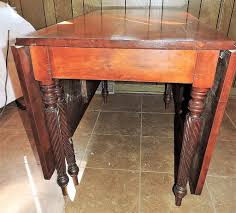 Wood Drop Leaf Table Cherry Wood Gate Leg Drop Leaf Table Mid Century Nashville