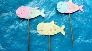 create smiley fish stick puppets diy crafts guidecentral youtube