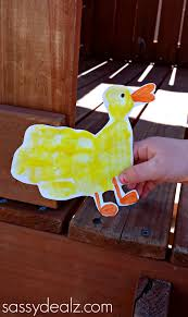 duck handprint craft for kids crafty morning
