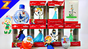 Frozen Christmas Decorations 2015 Frozen Christmas Ornaments Hallmark Set Disney Decorations