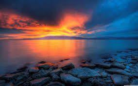 utah lake sunset 4k hd desktop wallpaper for 4k ultra hd tv