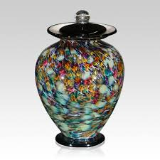 unique urns the rainbow glass cremation urn is blown one at a time each