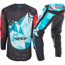 fly racing motocross gear fly racing 2017 mx new kinetic crux teal blue red jersey pant
