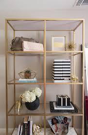 Ikea Bookcase Hack Diy Gold U0026 Marble Ikea Bookcase Hack Alicia Tenise