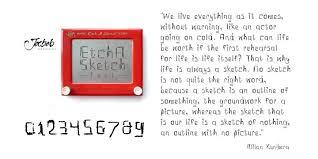 etch a sketch webfont u0026 desktop font myfonts