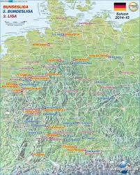 Map Od Map Of Germany Fussball Bundesliga 2014 15 Map In The Atlas Of