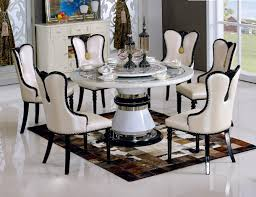 home design exquisite rotating dining table with centre by