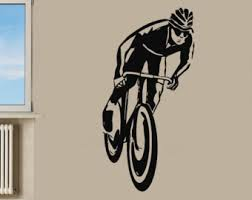 Sports Decals For Kids Rooms by Bicycle Wall Decal Etsy