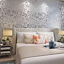 Gray Wallpaper Bedroom - dark grey 3235 dark gery 3d leather textured wallpaper vinyl