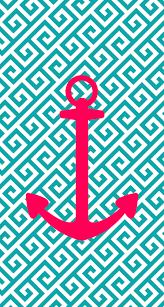 iphone 5 wallpaper anchor pink blue aqua design i hope u
