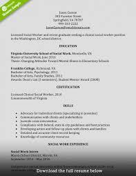 Social Work Resume Sample Download Social Worker Resume Haadyaooverbayresort Com