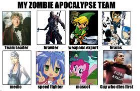 Zombie Team Meme - make your own zombie apocalypse team meme