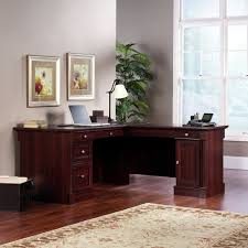 L Shaped Computer Desk Amazon by Amazon Com Sauder Palladia L Shaped Desk In Select Cherry