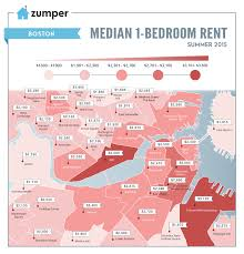 San Diego Map Neighborhoods by Boston U0027s Cheapest And Most Expensive Neighborhoods To Rent This