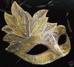mardi gras masks venetian mardi gras mask smaller kid gold bronze ebay
