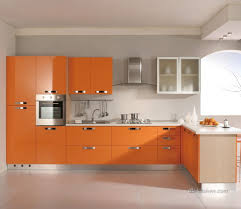 Its Very Easy To Brighten Your Kitchen With Glossy Orange Acrylic - Orange kitchen cabinets