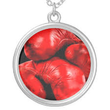 boxing gloves necklaces lockets zazzle