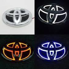 toyota yaris emblem 1 car sticker waterproof 5d xenon white blue led el cold light