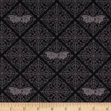 sewing patterns for home decor michael miller freak out gothic bats grey from fabricdotcom from