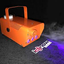 halloween orange fog machine with mini led string lights idjnow