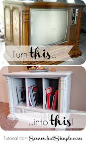 repurposed furniture ideas tv cabinet old tv transformation with home hinges tvs repurpose and craft