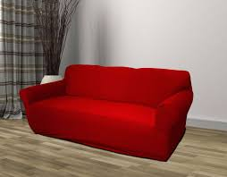 Red Sofa Furniture Red Jersey Sofa Stretch Slipcover Couch Cover Chair Loveseat