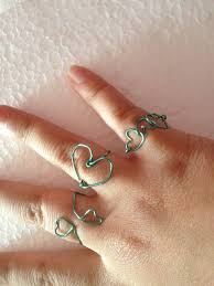simple wire rings images Lovely wire hearts part two diy gloriously chic jpg